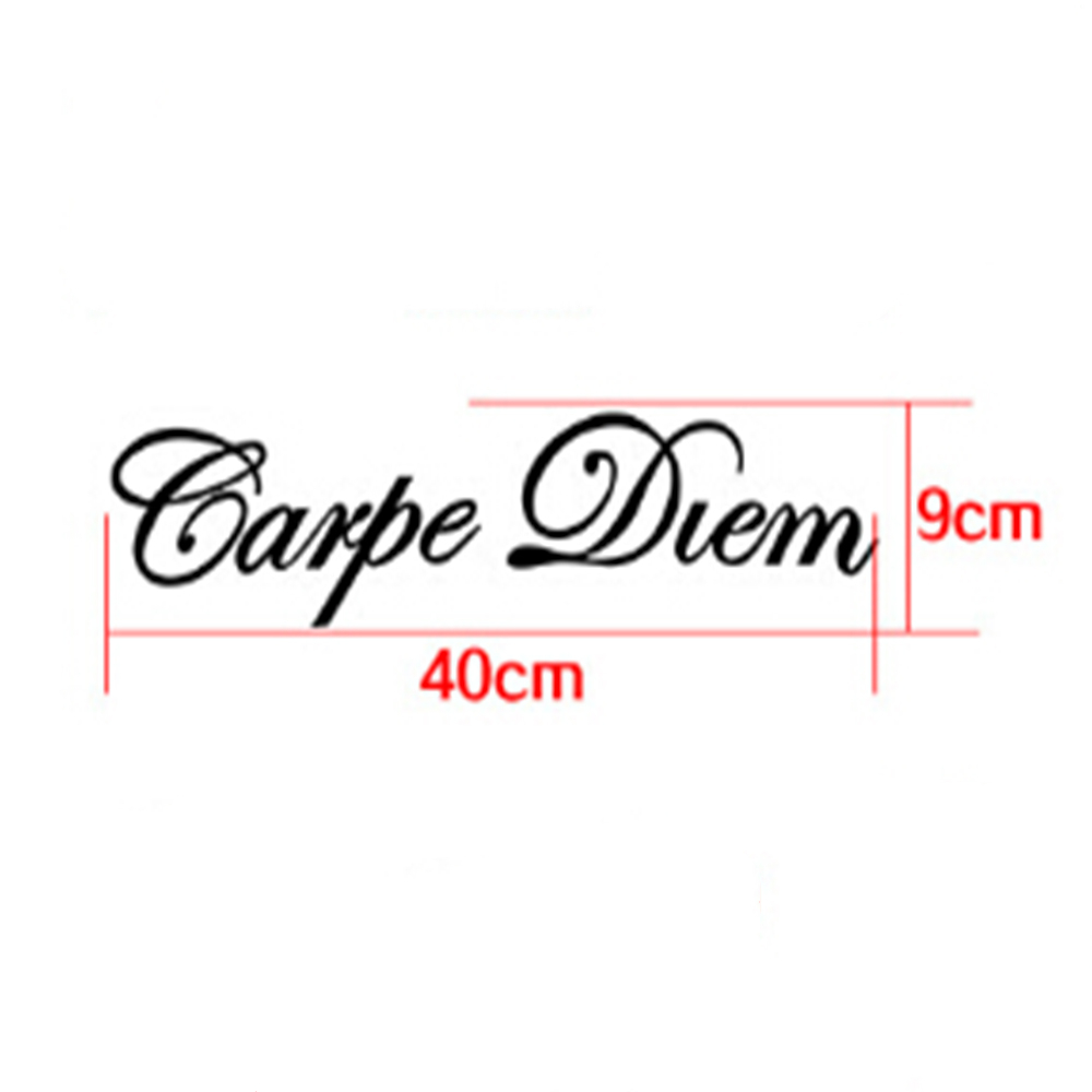 Image 2 - 1 PC Carpe Diem Car Stickers Vinyl Car Styling Art Sticker Creative Car Window Body Lettering Decal Decor DIY Accessories Drop-in Car Stickers from Automobiles & Motorcycles