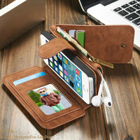 For IPhone 5s Case Original CaseMe Multi Functional Vintage Genuine Leather Wallet Mobile Phone Cases For