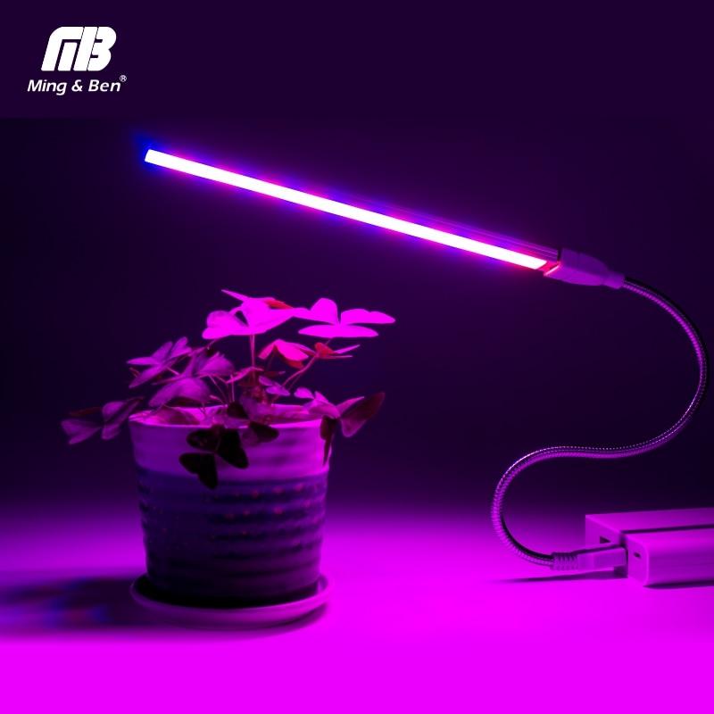 Usb Led Luz De La Planta Espectro Completo 3 W 5 W Dc 5 V Flexible Crecer Luces Phyto Lámpara De Jardín Flor Casa Hidropónico Ir Uv Creciente