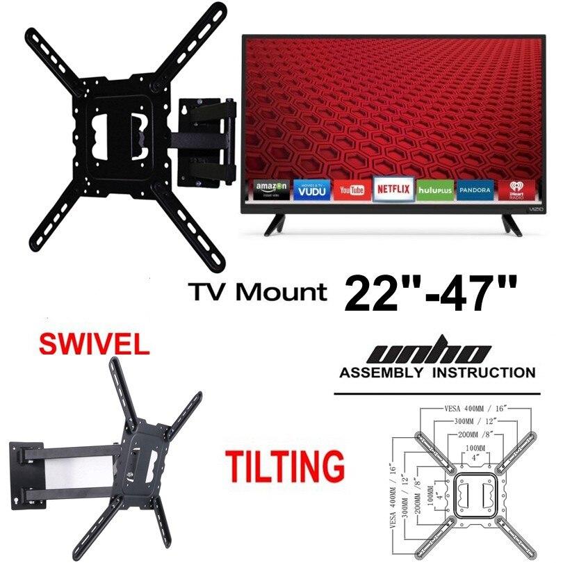 TV Wall Mount Monitor Tilt Full Motion Bracket LCD LED 22 27 32 37 40 46 47 50