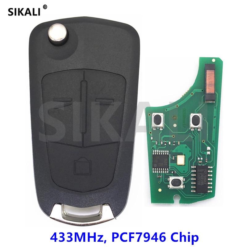 SIKALI 3 кнопки от автомобиля Авто пульт дистанционного управления для Opel/Vauxhall Vectra C 2006-2008, signium 2005-2007 433 мГц с ID46 чип