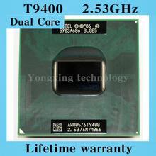 Dual Core T9400 CPU 2.53 GHz 6 M 1066 portable processeurs ordinateur portable PGA 478pin