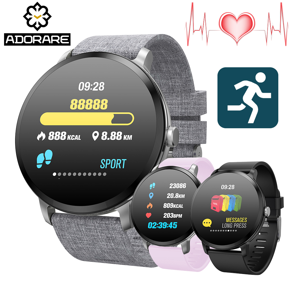 ADORARE V11 Smart watch IP67 waterproof Tempered Glass Activity Fitness tracker Heart rate monitor BRIM Men women smartwatch V11 v11 smart watch ip67 waterproof tempered glass activity fitness tracker heart rate monitor brim men women fitness smart watch