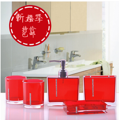 Crystal love five pieces set of bathroom fashion bathroom for Fashion bathroom set