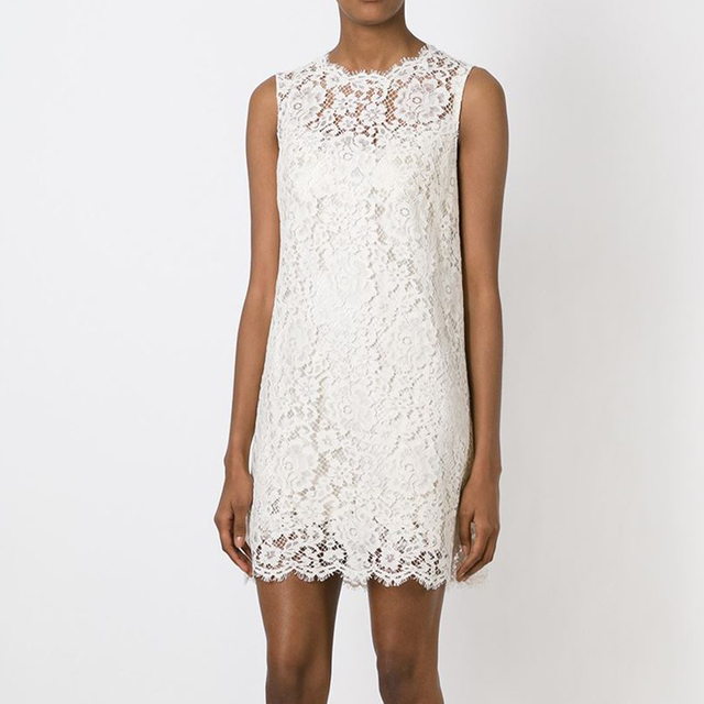D Fashion G Straight Ivory Lace Dress Heavy Mini Trendy Clothing