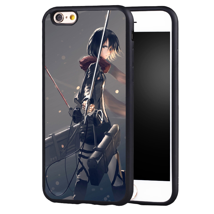 Beautiful attack On Titan mikasa case cover for Samsung Galaxy s4 s5 s6 S7 edge S8 plus note 2 3 4 5