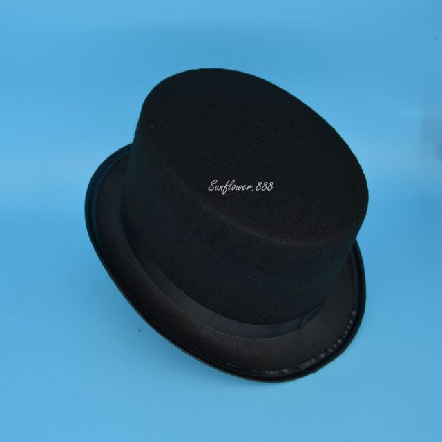 2018 Black Top Hat Magician Hat For Kid Children 2-8 years Fancy Party  Performance Props Dance Wear 0a3085c2d5c9