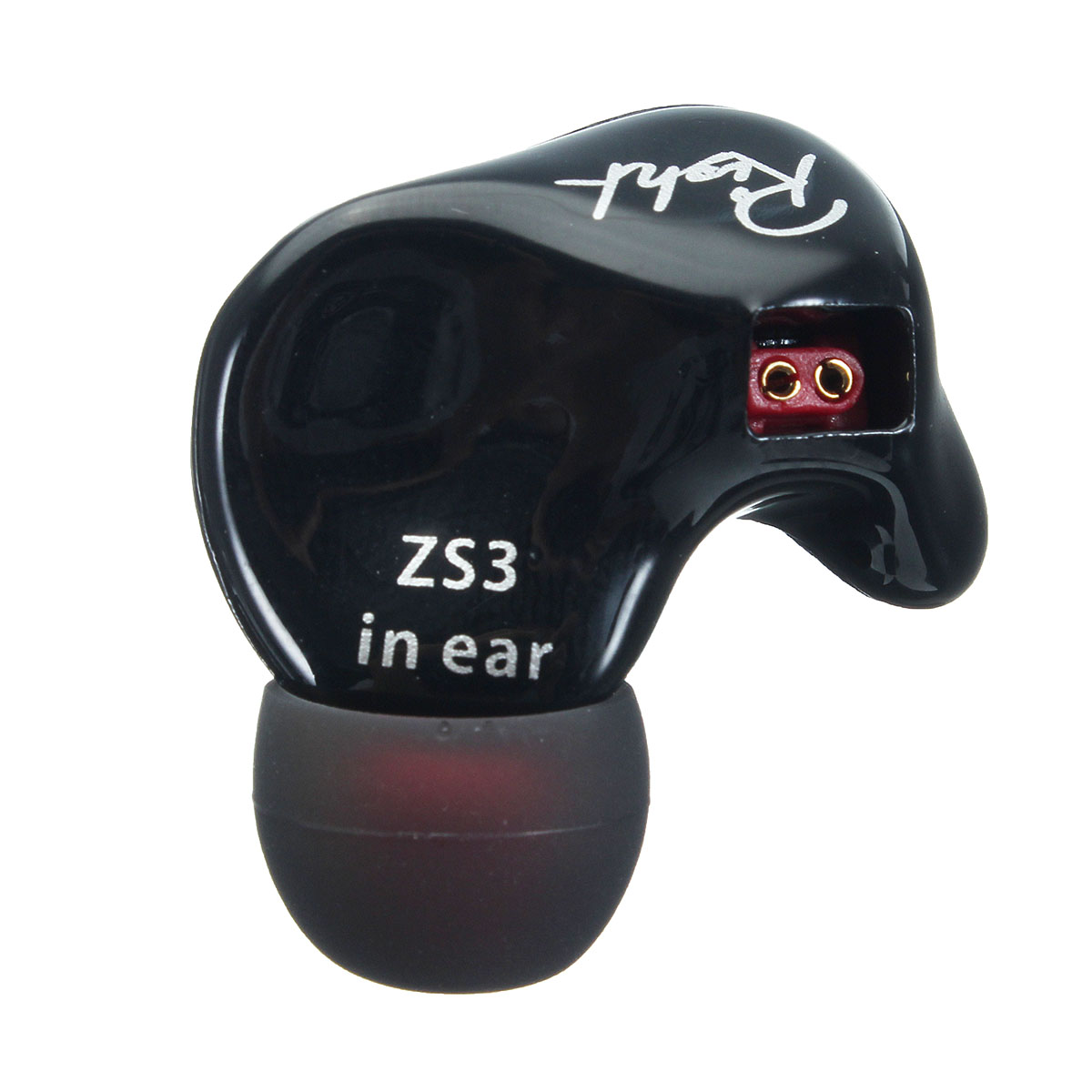 KZ ZS3 Professional HIFI In Ear Earphones Noise Isolate Ear Hook Stereo Earphones with Mic for Phone fashion professional in ear earphones light blue black 3 5mm plug 120cm cable