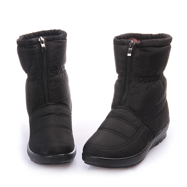 COOLSA Snow Boots Winter Brand Warm Non-slip Waterproof Women Boots Mother Shoes Casual Cotton Winter Autumn Boots Female Shoes