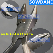 Dental Orthodontic Ultility Bird Beak Plier Heavy and Serrated Jaw Instrument Wire Bending for Max 0.9mm Wire dental filament orthodontic wire bending pliers correction of bending clamp pliers with tungsten steel