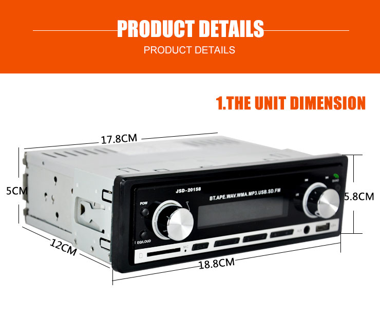 12V Car Radio 1din Car Audio Stereo Auto Audio Player Bluetooth Phone AUX-IN MP3 FM USB Remote Control autoradio 1 din