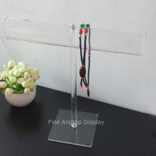 Quality clear acrylic tube display bracelet necklace jewelry t bar stand holder detachable