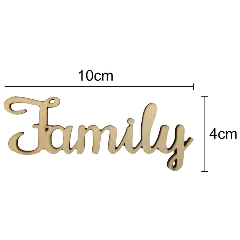 24pcs 100x40mm Wooden Family Word Letters Alphabet Script For Tree Crafts Home Wedding DIY Decorations In Figurines Miniatures From Garden