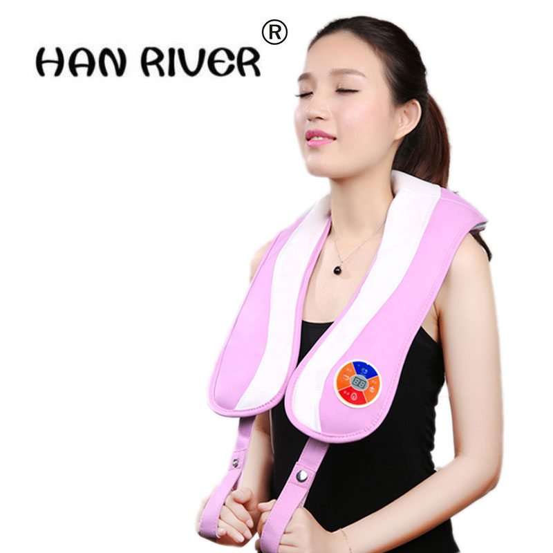 HANRIVER high quality Massage shawl cervical neck massager household electric heating body massager massage pillow waist pad hanriver the waist massager massage