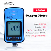 Portable Riot control oxygen gas analyzer O2 AS8901 concentration content measuring instrument detector tester Free shipping