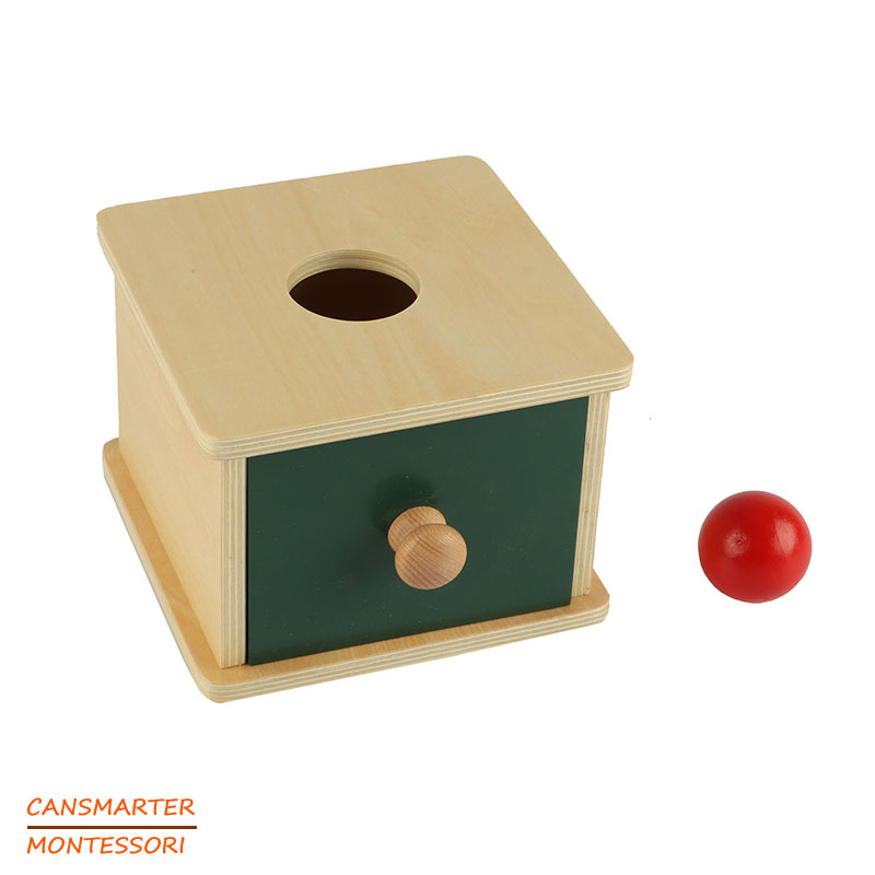 Montessori Kids Toy High Quality Wood Ball Matching Box Preschool Training