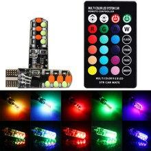 Автомобиль RGB T10-COB лампы дистанционное управление автомобиля ширина свет стробоскоп Атмосфера свет sep29