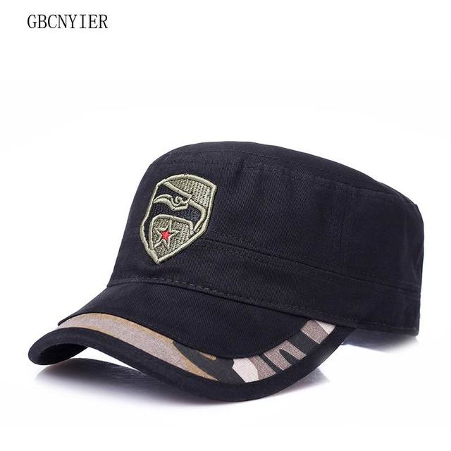 1e7c15fcc18 GBCNYIER Thin Cotton New Style Army Hat Fashion Casual Male Female Visor  Camouflage Spring Outdoor Stroll Military Hats