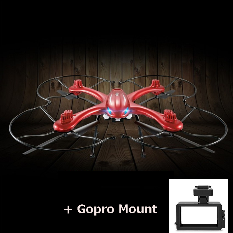 MJX X102H Quadcopter with Gopro Mount  2.4G 4CH 6Axis Altitude Hold Headless Mode One Key Return Phone Controller RC drone RTF with more battery original jjrc h12c drone 6 axis 4ch headless mode one key return rc quadcopter with 5mp camera in stock