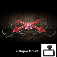 MJX X102H Quadcopter with Gopro Mount  2.4G 4CH 6Axis Altitude Hold Headless Mode One Key Return Phone Controller RC drone RTF