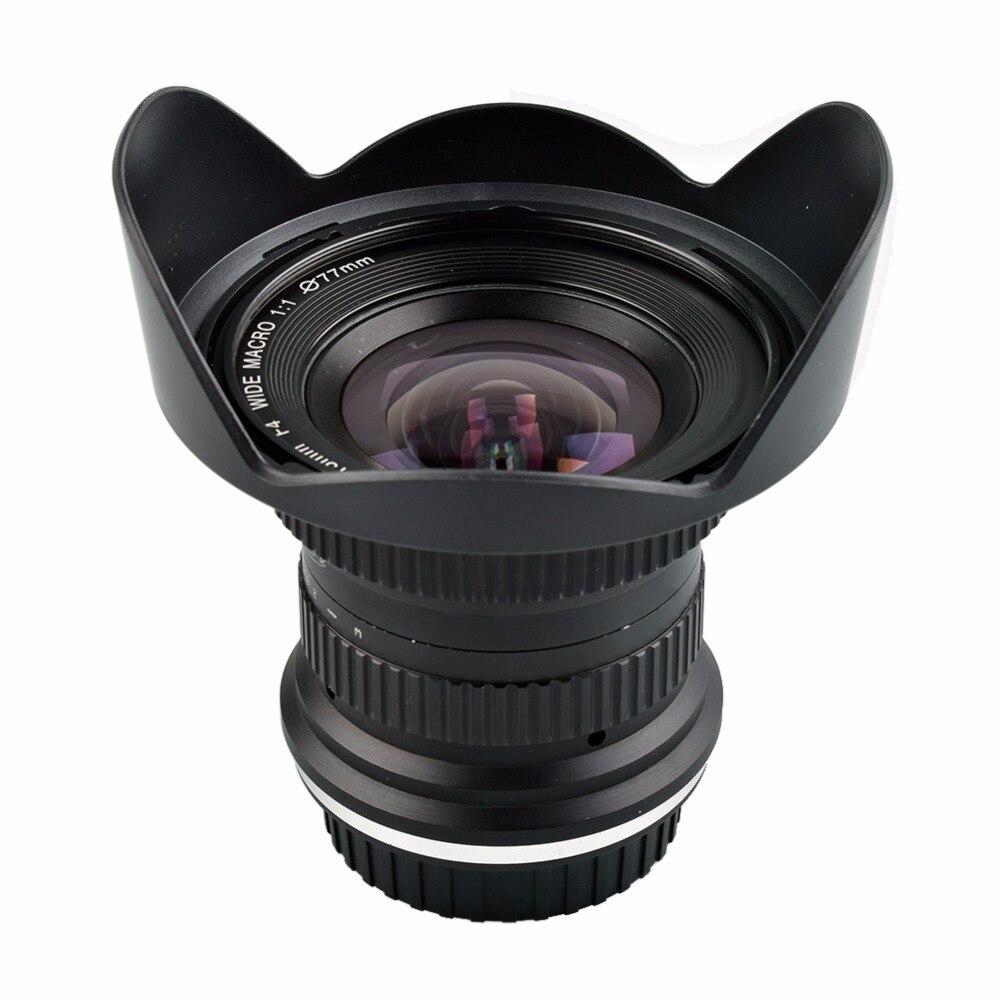 Lightdow 15mm F/4 F4.0-F32 Ultra Wide Angle 1:1 Macro Lens for Canon Nikon Digital SLR DSLR Cameras