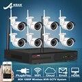 ANRAN P2P 8-КАНАЛЬНЫЙ Системы ВИДЕОНАБЛЮДЕНИЯ Беспроводной NVR Комплект 8 шт. 1080 P HD Открытый ИК Ночного Видения Безопасности IP Камеры Наблюдения WIFI система