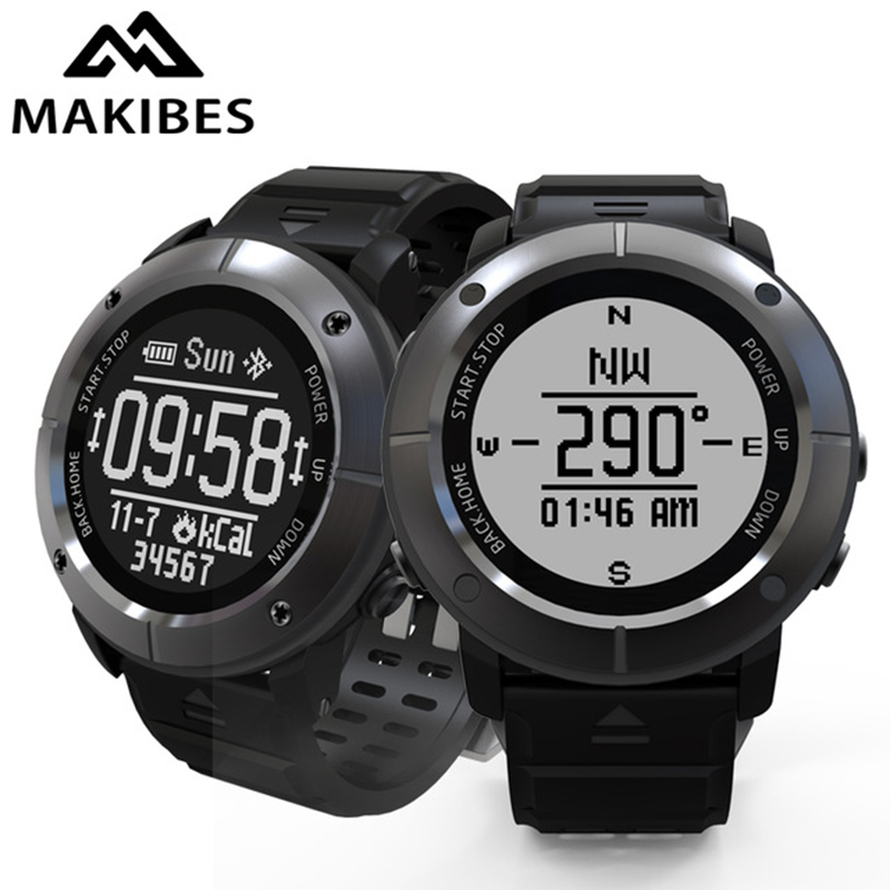 Makibes G06 Smart Watch Multisport GPS Bluetooth Heart Rate Monitor Wristwatch IP68 Waterproof Activity Tracker for IOS Android