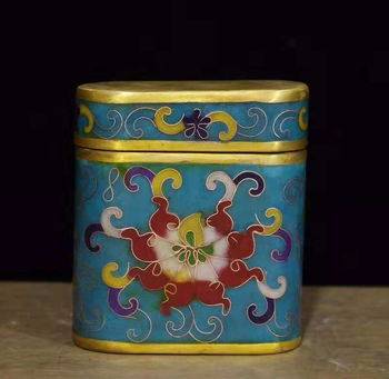 Exquisite Chinese Traditional Craft Old-style Cloisonne Toothpick Box, Cigarettes Case