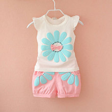 Detail 2016 summer newborn infant baby girls clothes casual sports brand printed tracksuits for baby girls clothing outfits sets