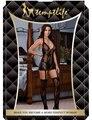 MOONIGHT Halter Sexy Lingerie Imprimir Mujeres la Ropa Interior Erótica Porno BabyDoll Caliente Profunda V Sexy Pijamas Ropa Interior Para Mujeres