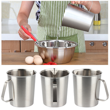304 Thick Stainless Steel Measuring Cup with Scale Milk Tea Cup Kitchen Baking Measuring Cup Stainless Steel Frothing Pitcher germany aaron flow cup viscometer stainless steel zahn 4 for printing