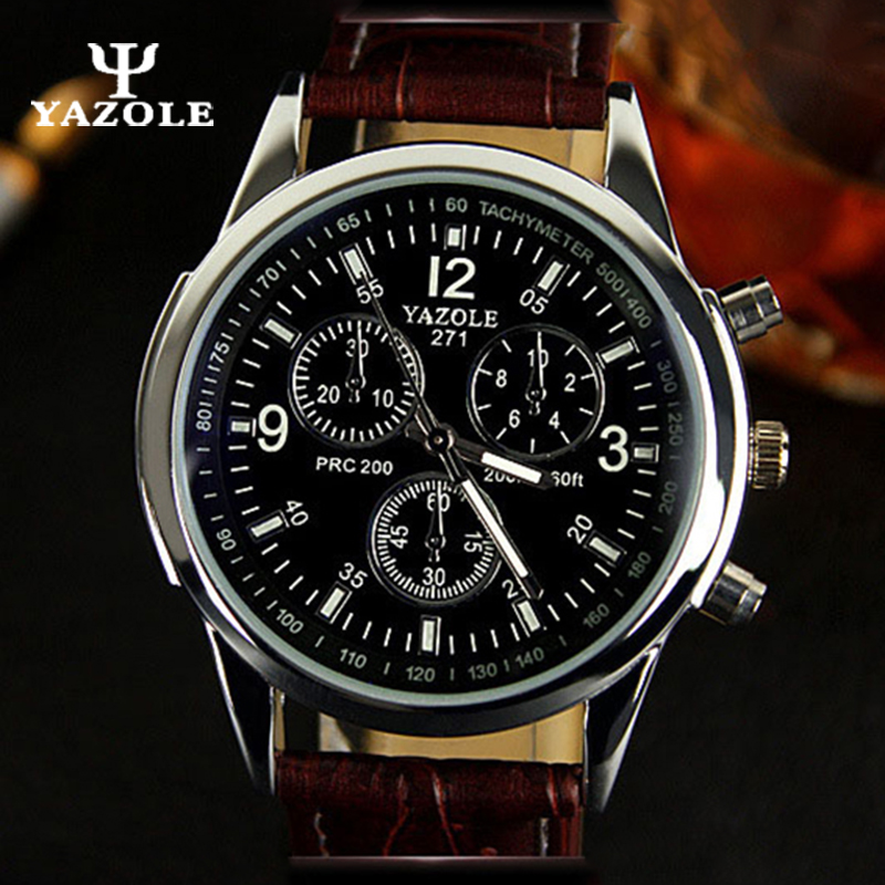 Mens Watches Top Brand Luxury YAZOLE Sport Men Quartz Watch Male Clock Cheap Wristwatch Quartz-watch Hodinky Relogio Masculino C top brand sport men wristwatch male geneva watch luxury silicone watchband military watches mens quartz watch hours clock montre