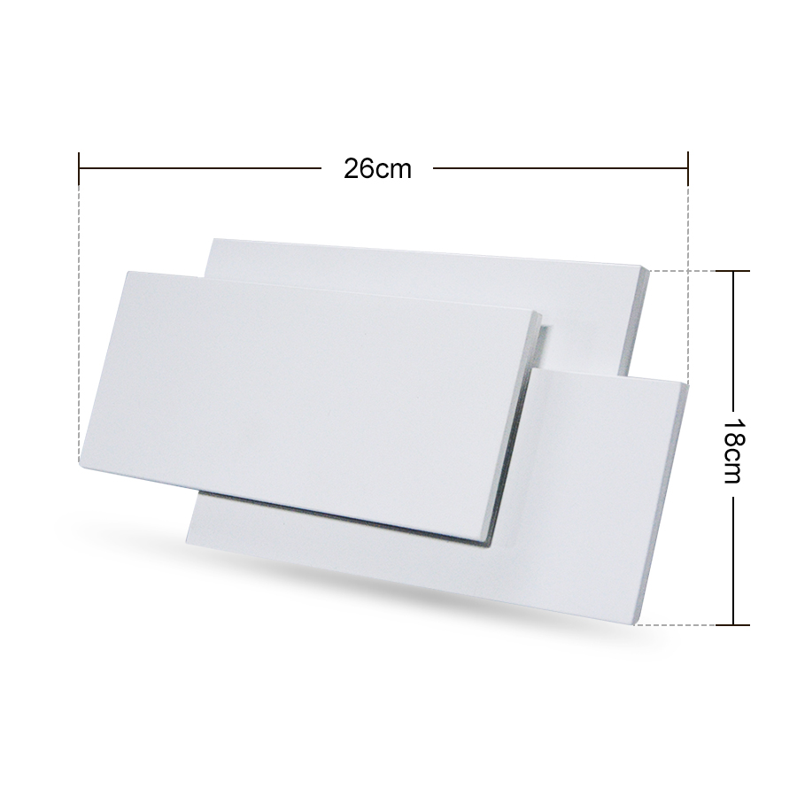 Image 4 - 18W LED Wall Sconces Lighting Interior Wall Lamp Contemporary Mounted Lamp With Aluminum Shell for Indoor Bedroom Hotel Light-in LED Indoor Wall Lamps from Lights & Lighting