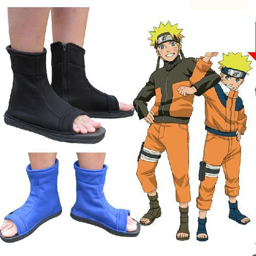 1198a0a47ba82 US $12.82 5% OFF|Naruto Cosplay Shoes Konoha Cosplay Ninja Boots Kakashi  Shoes Cosplay Shoes Costumes Black Blue-in Shoes from Novelty & Special Use  ...