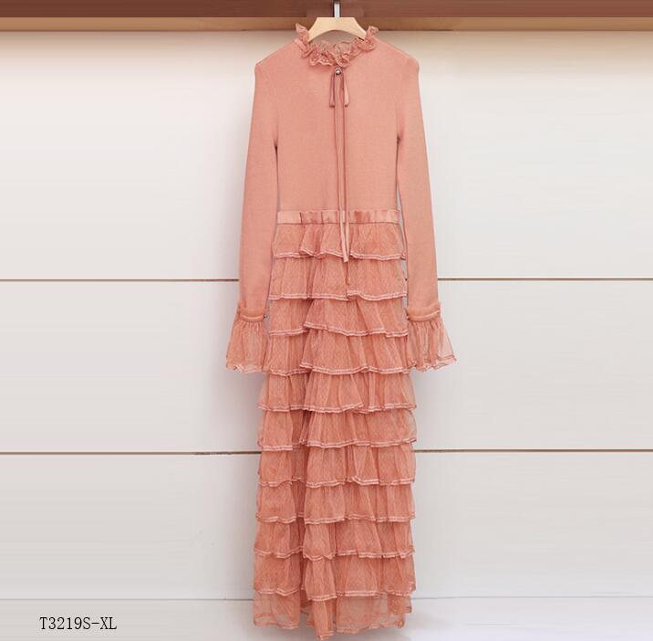 Maille 2019 Style Femmes Patchwork T3219 Tempérament Vintage D'été Color Mode photo Color Printemps Photo Vêtements Européen Robe Nouveautés vSqwx5S