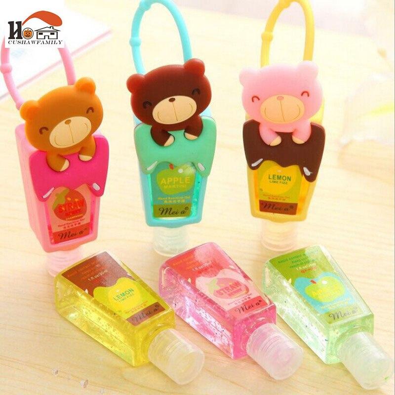 1pcs Cute Teddy Bear hung Travel portable Mini Plastic hand sanitizer/Shampoo/Makeup fluid bottle Bathroom with empty bottle