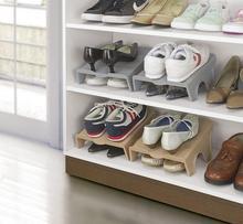 Japan Sanada Plastic Household Cabinet Closet Shoes Stand Rack Holder Shoes Storage Organizer Shelf [ 1 pc ] Brown