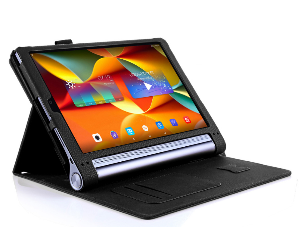superior quality 4d31e f2df4 US $24.99 |Luxury Yoga Tab 3 10 Pro Leather Case For Lenovo Yoga Tab3 10  Pro X90 Tablet Case 10.1''Flip Book Stand Hands Holder Wallet case-in  Tablets ...