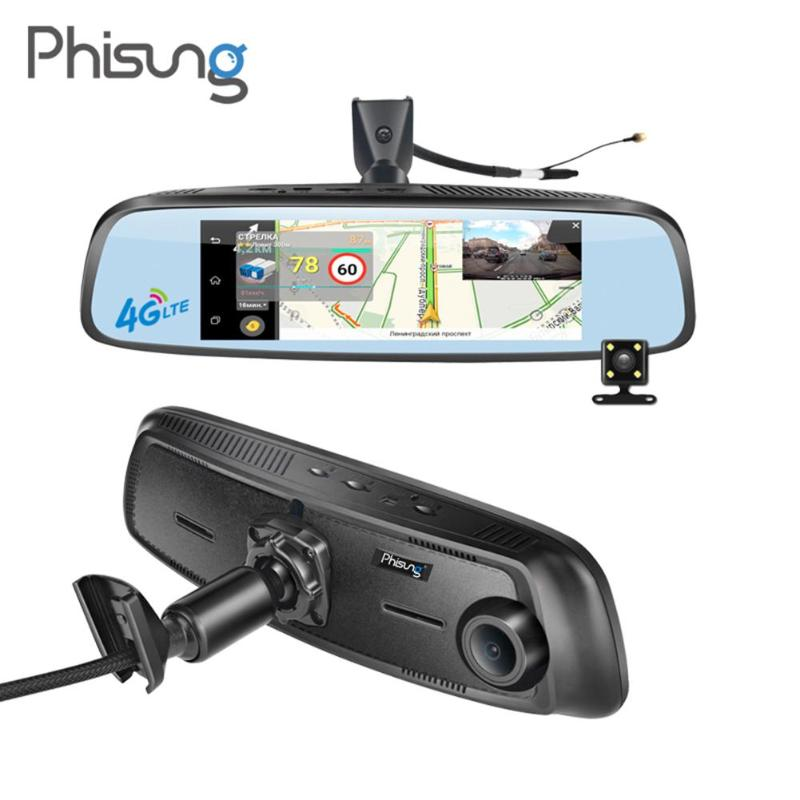 Phisung 7.84inch FHD 1080P Bluetooth 4G Android Car DVR GPS Navigator ADAS Dash Cam Rear View Mirror with DVR Wifi Dashcam New