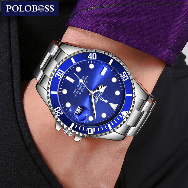 Top Brand Luxury Men Mechanical Famous Watch Submarine Men Automatic Self-Wind Watch Green Mechanical Wristwatches With Calendar