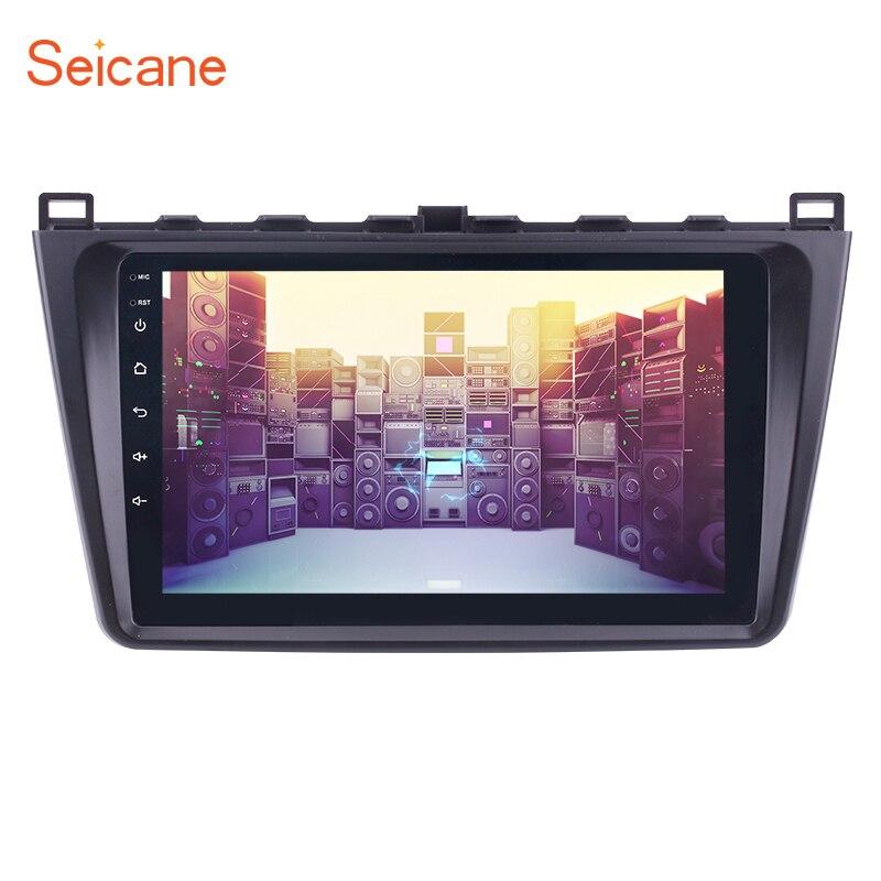 Seicane Quad-core 9 inch 1080P Android 6.0 Car Radio GPS Navi Unit Player For 2008 2009 2010 2011-2015 Mazda 6 Rui wing RAM 1GB