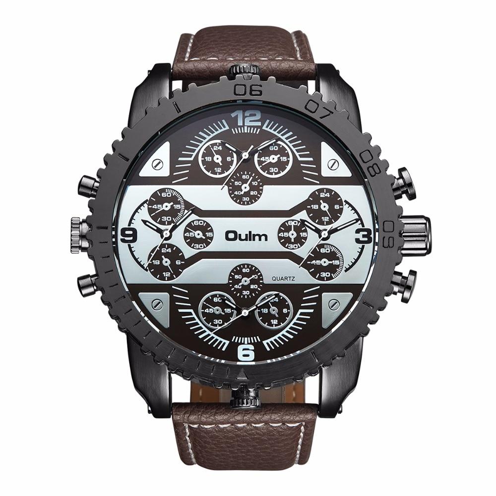 HP3233 Brand Oulm Högkvalitativa Män Klockor Quartz Watch Man - Herrklockor