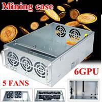 4U 8GPU Or6GPU Mining Chassis Frame Case 8GPU Or6GPU With 12 Cm Fans