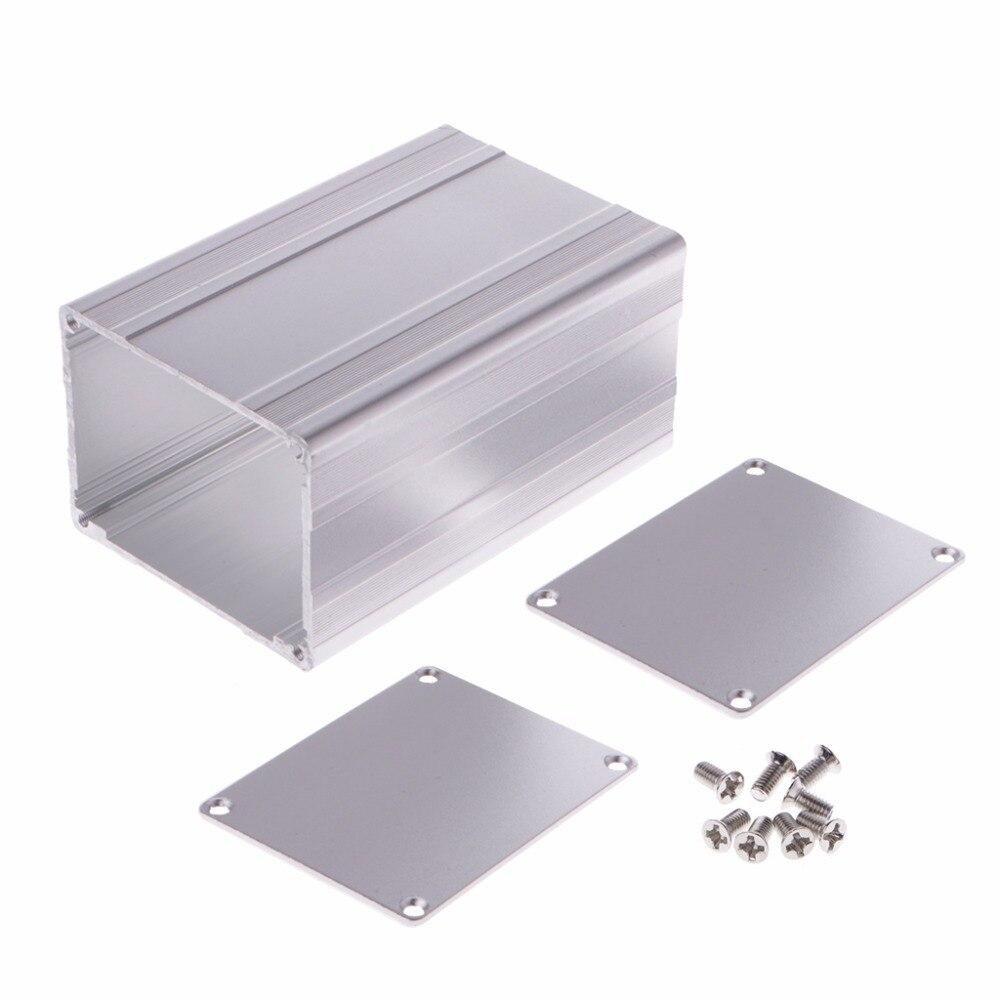 New 100x65x50mm DIY Aluminum Enclosure Case Electronic Project PCB Instrument Box Aluminum Enclosure hot e cap aluminum 16v 22 2200uf electrolytic capacitors pack for diy project white 9 x 10 pcs
