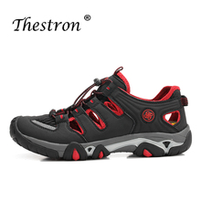 Summer Mens Hole  Sandals Rubber Sole Trekking Sneakers Black Gray Outdoor Walking Shoe Wearable Men Flats