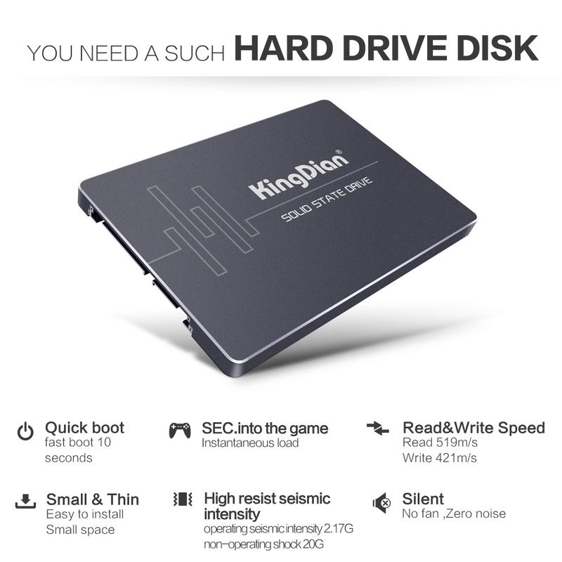 KingDian SSD SATA3 2.5 Inch 120G 240GB 480G Hard Drive Disk HD HDD KingDian Highest performance Mobile solid state drive Disk kingdian sata ssd s100 solid state drive