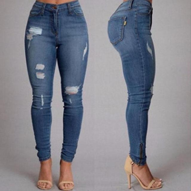 Enge zerrissene jeans damen