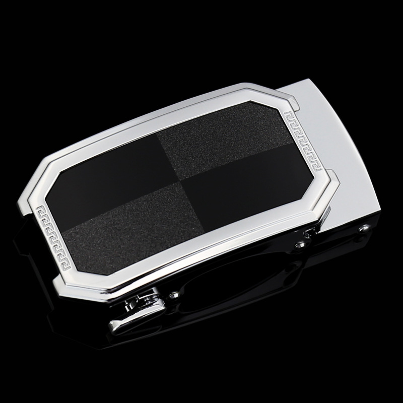 Fashionable Inner Through Automatic Buckle For 3.5cm Width Genuine Cow Leather Ratchet Belts Men Luxury Brand Belt Buckles CE161