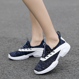 Image 4 - STQ 2020 Autumn Women Flat Lace Up Shoes Women Breathable Casual Sneakers Shoes Ladies Flat Walking Shoes For Women Flats 7728