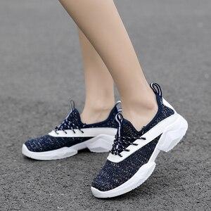Image 4 - STQ 2020 סתיו נשים שטוח תחרה עד נעלי נשים לנשימה מזדמנים סניקרס נעלי גבירותיי שטוח נעלי נשים דירות 7728